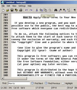 A prototype for an improved UI for Notepad2.